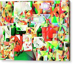 Acrylic Print featuring the photograph The Football Quarterback In Abstract Cubism 20170328 by Wingsdomain Art and Photography