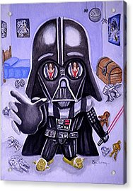 The Force Is Strong With This One Acrylic Print by Al  Molina