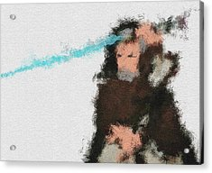The Force Acrylic Print by Miranda Sether