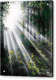 Acrylic Print featuring the painting The Forest 01 by Greg Moores