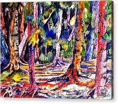 The Forest Before The Trees Acrylic Print by Patricia Bigelow