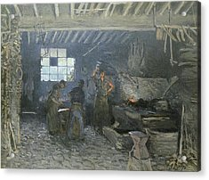 The Forge Acrylic Print by Alfred Sisley