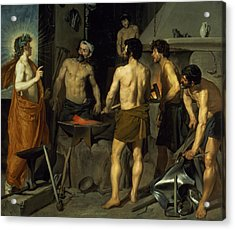 The Forge Of Vulcan Acrylic Print by Diego Velazquez