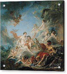 The Forge Of Vulcan Acrylic Print by Francois Boucher