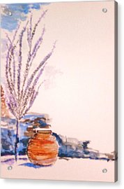 Acrylic Print featuring the painting The Forgotten Urn by Helena Bebirian