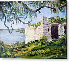 The Fort At Frederica Acrylic Print by Albert Fendig