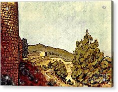 The Fort In Lorca Acrylic Print by Sarah Loft