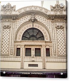 The Forum Cafeteria Facade Acrylic Print