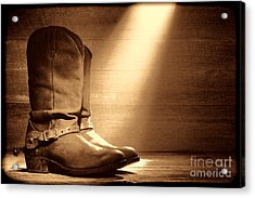 The Found Boots Acrylic Print