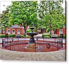 The Fountain At Radford University Acrylic Print