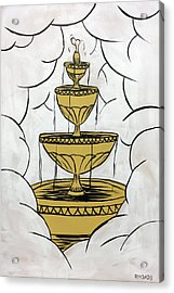 Acrylic Print featuring the painting The Fountain Of Life by Nathan Rhoads