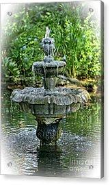 The Fountain Acrylic Print by Richard Burr