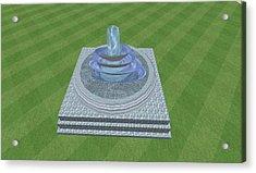 The Fountain Acrylic Print by Thomas Smith
