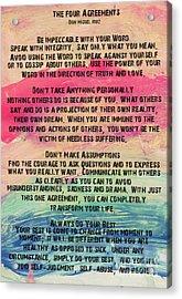 The Four Agreements 11 Acrylic Print
