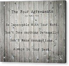 The Four Agreements 12 Acrylic Print