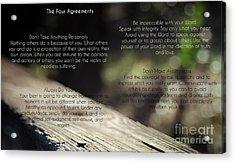 The Four Agreements 4 Acrylic Print