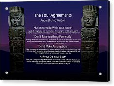 The Four Agreements Poster Acrylic Print