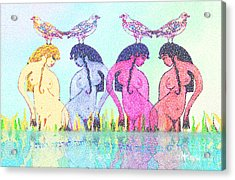 The Four Daughters Of Eve  -aka-  Four Rivers Acrylic Print