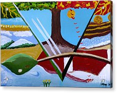 Acrylic Print featuring the painting The Four Seasons by Rod Ismay