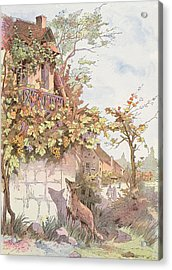 The Fox And The Grapes Acrylic Print by Georges Fraipont