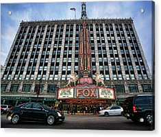 The Fox Theatre In Detroit Welcomes Charlie Sheen Acrylic Print by Gordon Dean II