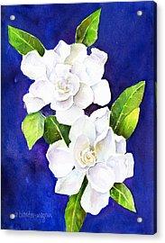 The Fragrant Gardenia Acrylic Print by Arline Wagner