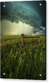 Acrylic Print featuring the photograph The Frayed Ends Of Sanity  by Aaron J Groen