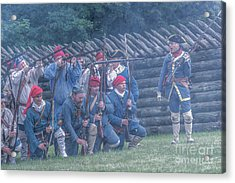 The French Attack On Fort Ligoner 1759 Acrylic Print by Randy Steele