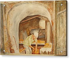 Acrylic Print featuring the painting The French Baker by Vicki  Housel
