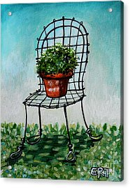 The French Garden Cafe Chair Acrylic Print