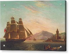 The Frigate Hms Pearl Acrylic Print by English School