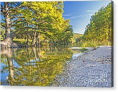 The Frio River In Concan Texas Acrylic Print by Andre Babiak