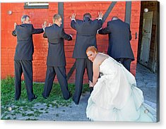 Acrylic Print featuring the photograph The Frisky Bride by Keith Armstrong