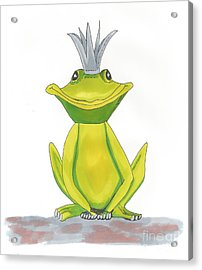 The Frog King Acrylic Print by Isabel Proffit