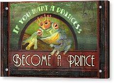 The Frog Prince Acrylic Print by Joel Payne
