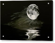 The Fullest Moon Acrylic Print by Elisabeth Dubois