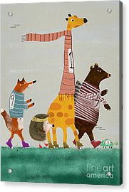 Acrylic Print featuring the painting The Fun Run by Bri B