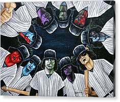 Acrylic Print featuring the painting The Furies Game Over by Al  Molina