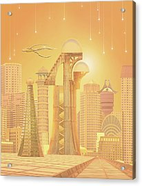 The Future Is Golden Acrylic Print