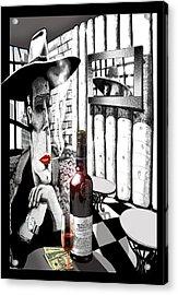 The Gangster Acrylic Print by Jose Roldan Rendon