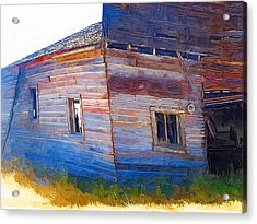Acrylic Print featuring the photograph The Garage by Susan Kinney