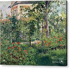 The Garden At Bellevue Acrylic Print by Edouard Manet