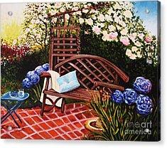 The Garden Acrylic Print by Elizabeth Robinette Tyndall