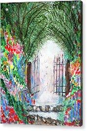 The Garden Gate Acrylic Print by Ann Ingham