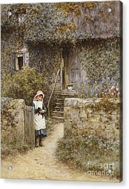 The Garden Gate Acrylic Print by Helen Allingham