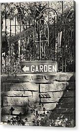 The Garden Gate Acrylic Print by Jim Furrer