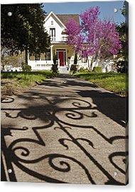 The Garden Gate Shadow Acrylic Print by Charlie Osborn