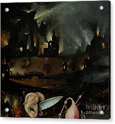 The Garden Of Earthly Delights, Detail Of Right Panel Showing Hell Acrylic Print