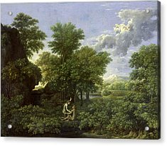 The Garden Of Eden Acrylic Print by Nicolas Poussin