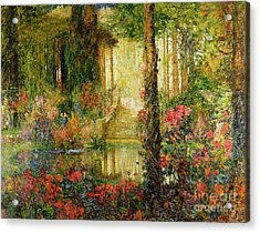 The Garden Of Enchantment Acrylic Print by Thomas Edwin Mostyn